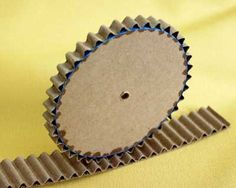 Corrugated cardboard- cool effect/texture
