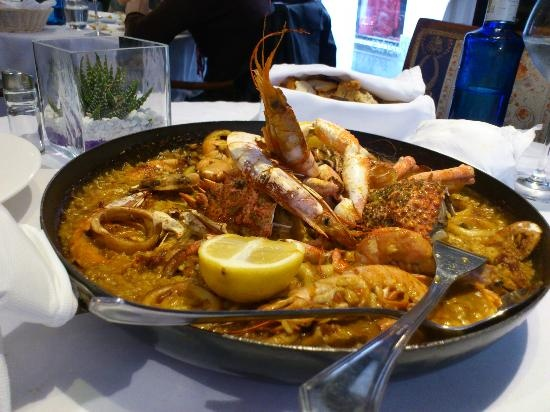 Seafood Paella at 7 Portes...so good