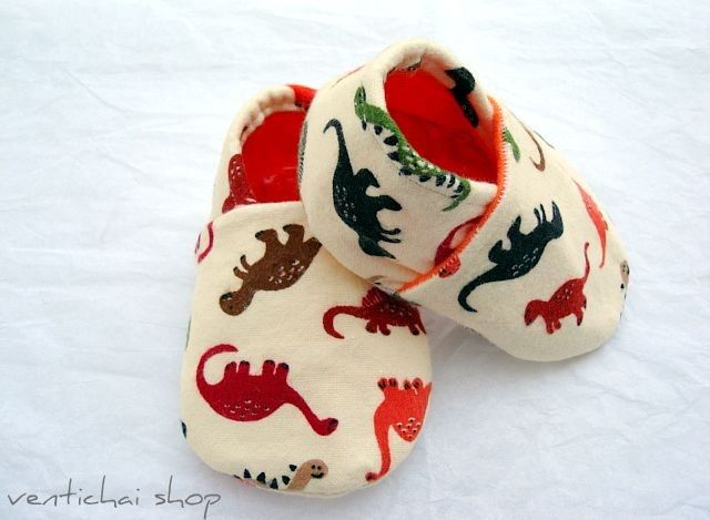 Roar Says The Dinosaurs Baby Shoes Booties Slippers. $30.00, via Etsy.