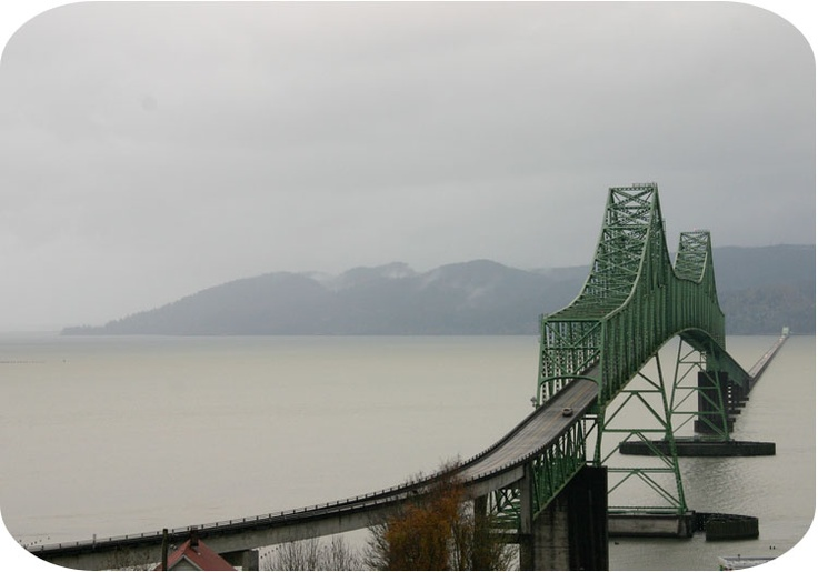 Bridge across the Columbia River. Astoria, OR to Long Beach Peninsula, WA