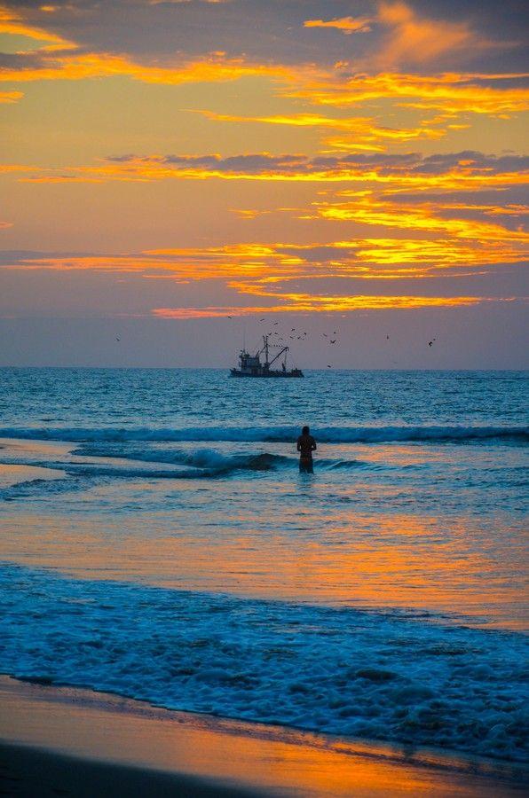 Mancora beach sunset, Piura, Peru