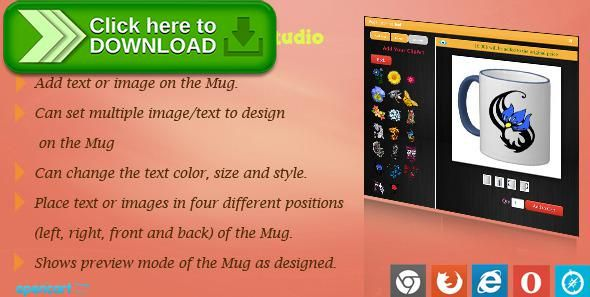 [ThemeForest]Free nulled download Mug Design and Custom Printing Module for OpenCart from http://zippyfile.download/f.php?id=49277 Tags: ecommerce, Custom Coffee Mugs, custom mug design, custom mug design opencart, custom mug printing, custom mugs, mug customized, opencart custom mug design, opencart free module, opencart mug design module, personalized coffee mugs, personalized mug, personalized mugs, personalized travel mugs, Wordpress Mugs