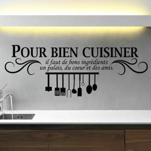 les 25 meilleures id es de la cat gorie citation cuisine sur pinterest stickers cuisine. Black Bedroom Furniture Sets. Home Design Ideas