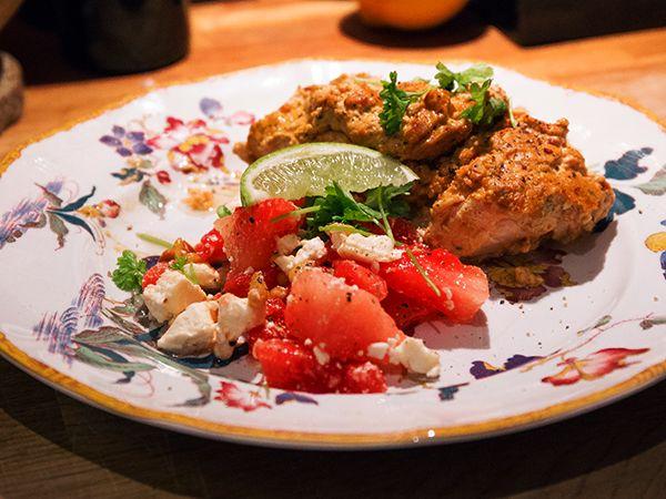 Lax med vitlök och soltorkade tomater   Recept från Köket.se