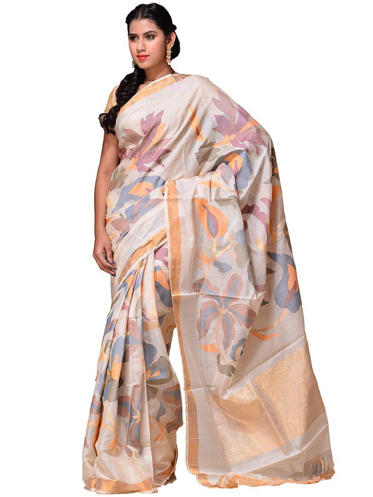 Handloom cotton Khadi Saree...kh0187a