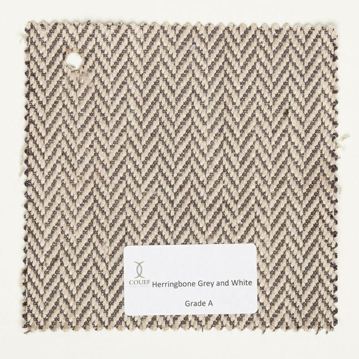 grey herringbone ottoman material Herringbone, Grey and