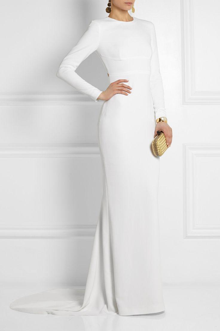simple and elegant: Stella McCartney|Renee open-back crepe gown|NET-A-PORTER.COM