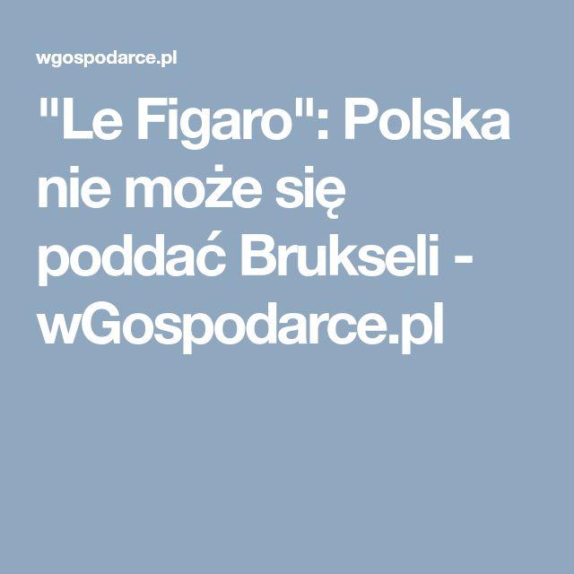 """""""Le Figaro"""": Polska nie może się poddać Brukseli - wGospodarce.pl"""
