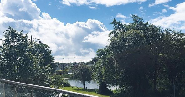 Gorgeous meals and view at GFP Santry! #gfp #gourmetfood #foodie #dublin #dublinireland #irish #gourmetfoodparlour #lake #trees #balcony #balconyview #summer