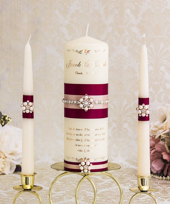 Rose Gold Wedding Unity Candle Rose Gold Unity Candle Set Blush