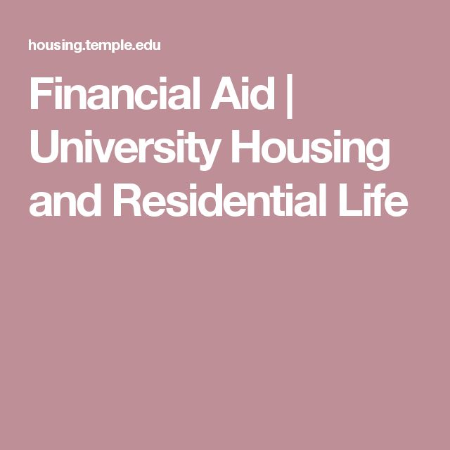 Financial Aid | University Housing and Residential Life