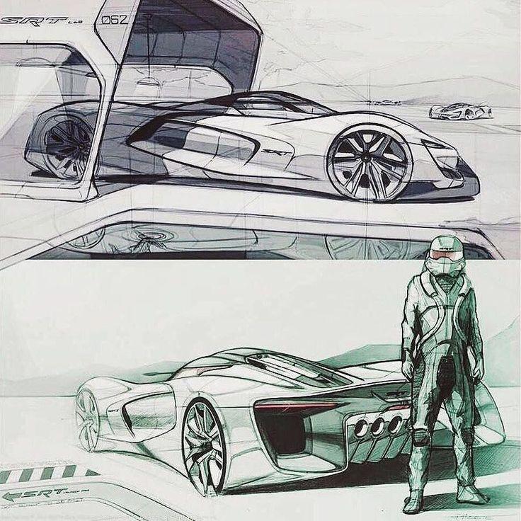 SRT Tomahawk Vision Gran Turismo design sketches srt