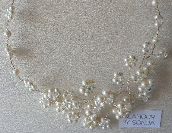 Bridal Necklace Bridal Collier Wedding Necklace by glamourbysonja