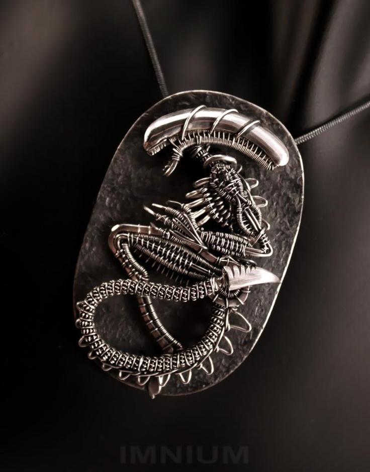 Alien Fossil - isn't it amazing!  Handmade.  Absolutely amazing!