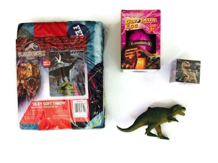 Jurassic World Throw Bundle Toy Allosaurus Clade-Gravim Giant Hatching Dinosaur Egg and more!
