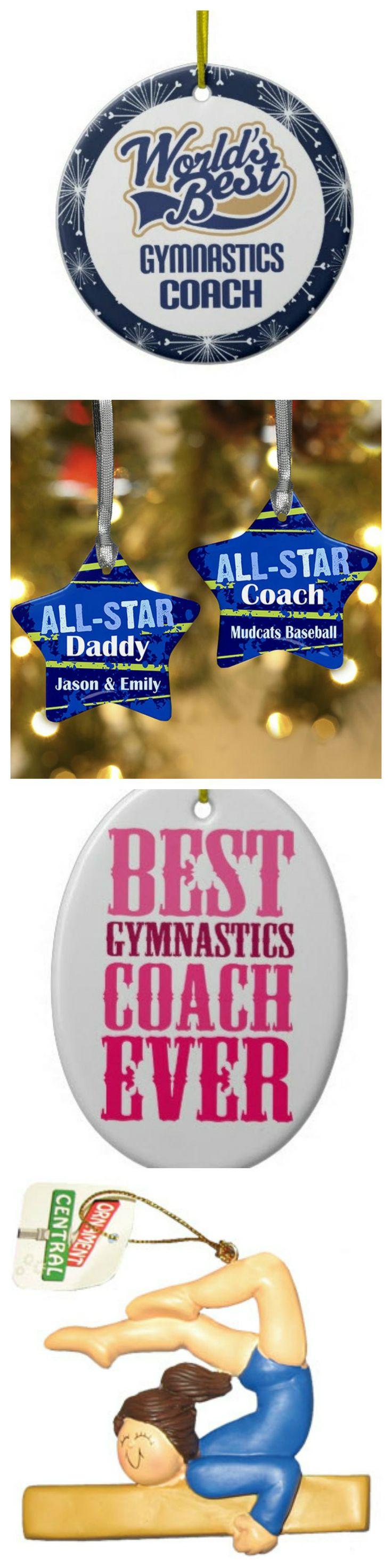 Gymnastics ornament christmas - Gymnastics Coach Ornaments