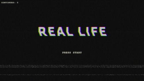 life weird black real VHS game web pixel videogame rad ...