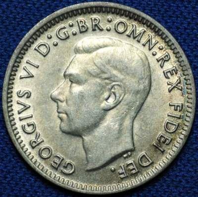1949 Australian threepence obverse