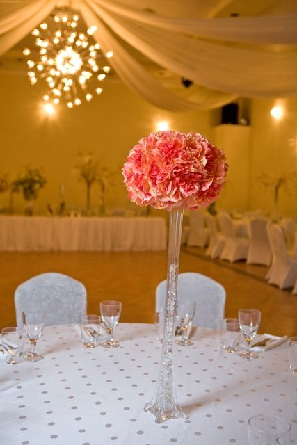 Centerpieces Pretty Pink Wedding Fl Centerpiece Demers Banquet Hall