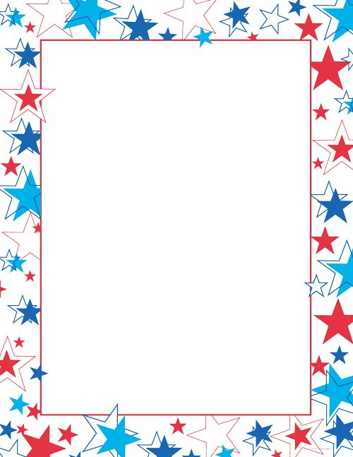 red white and blue stars patriotic letterhead patriotic stationery