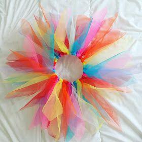 un tutu arc-en-ciel pour carnaval