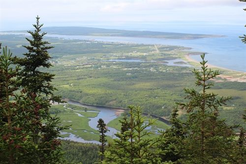 A view of Cheticamp and the Cheticamp River from the Acadian Hiking trail.  This is one of best hikes I have done in Nova Scotia.