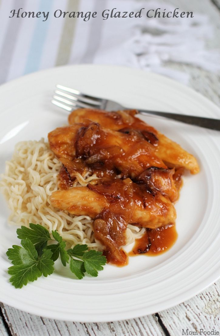 Honey Orange Glazed Chicken Recipe from @MomFoodie