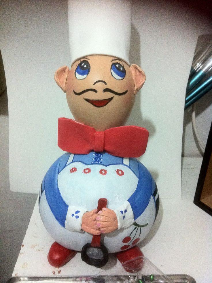 Cocinero calabaza con goma eva de isabel lopez mis - Trabajos en goma eva ...