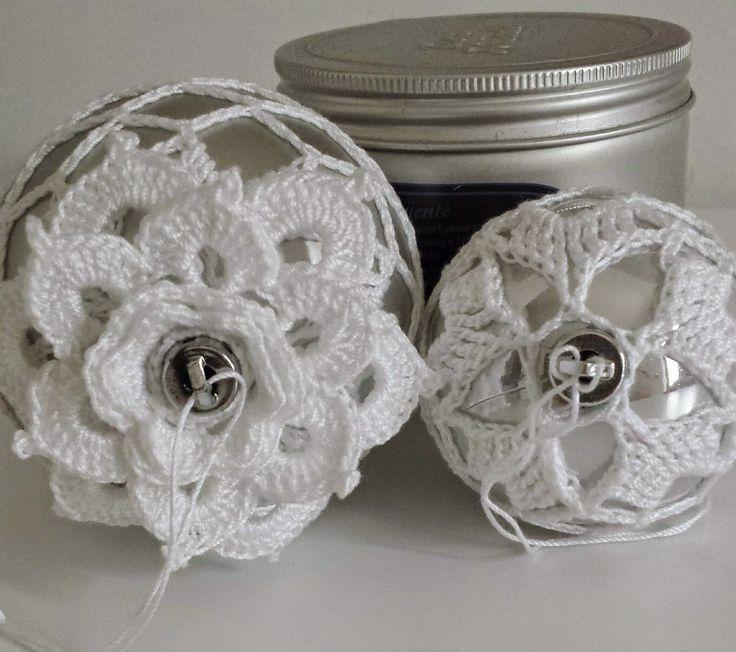 Le cosette di Sandrine: Palle di Natale ricoperte al crochet...