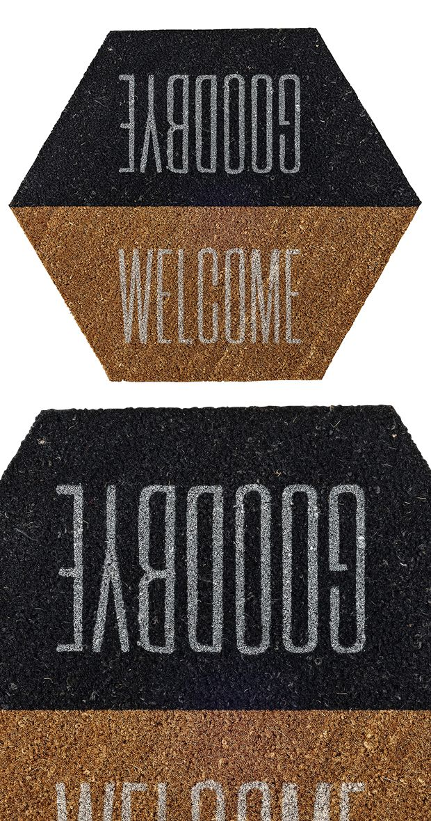 Are they coming or going it matters not the mixed message doormat offers clever reversible - Clever doormats ...