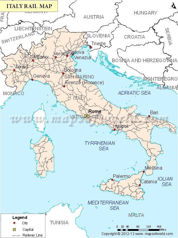 Italy Train Map (Italy Rail Map)