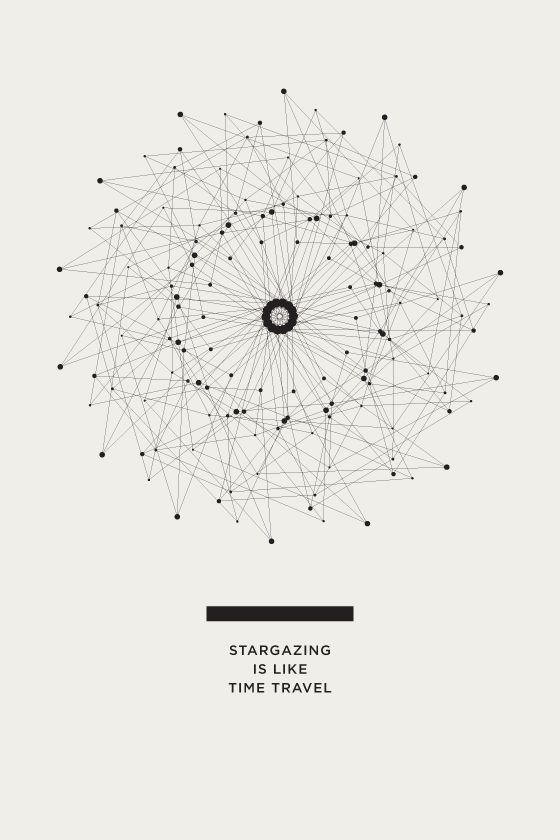 """""""Stargazing is like Time Travel"""" THE UNIVERSE POSTERS - Amanda Mocci #posters #design"""