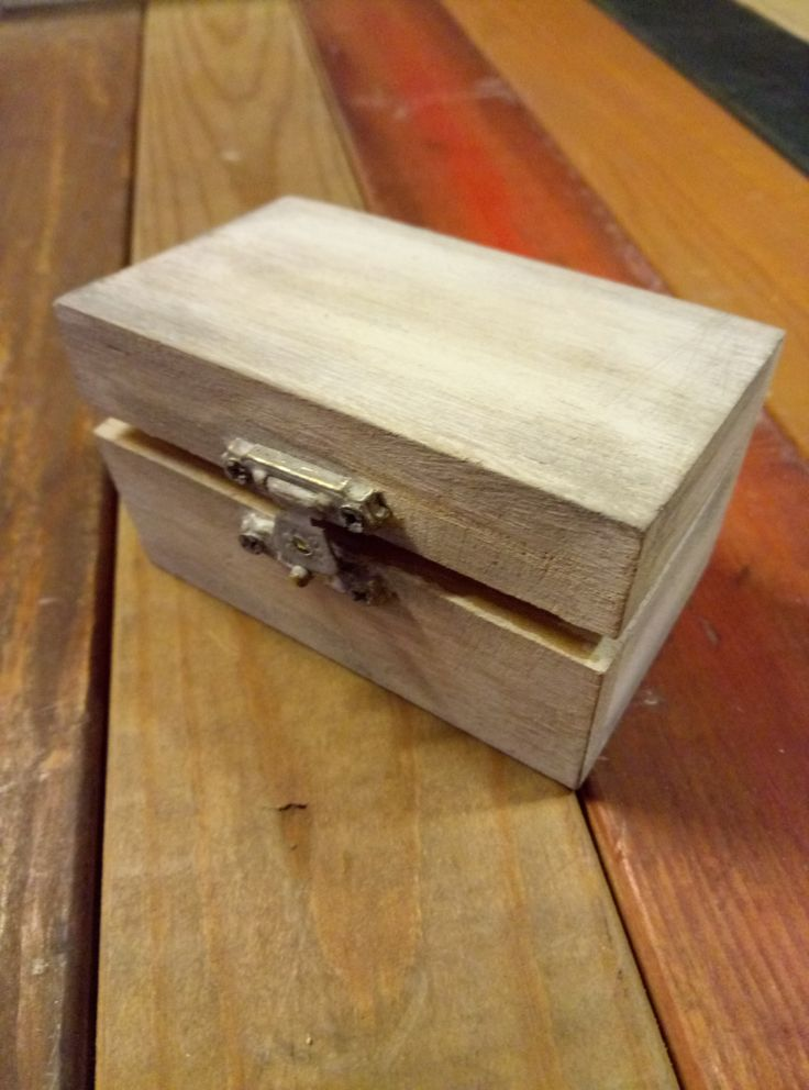 small wooden box!