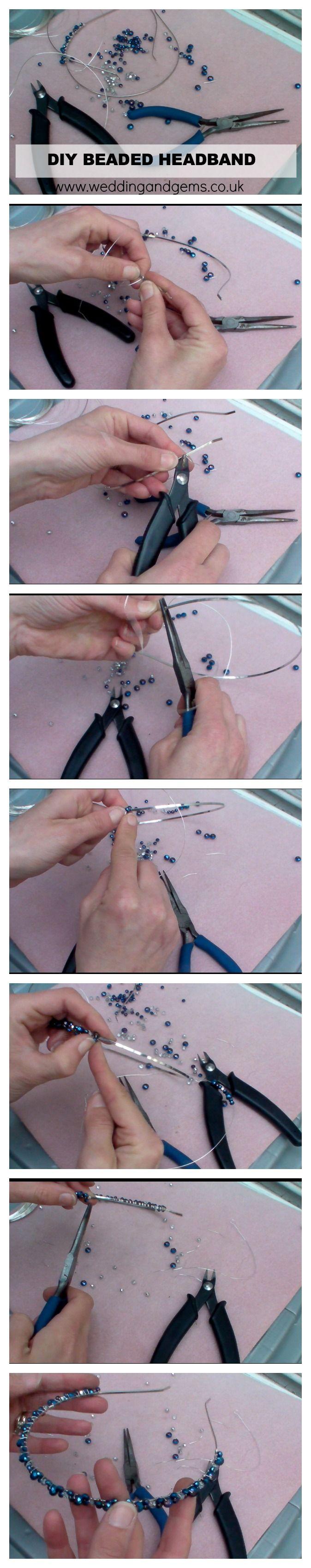 DIY Crystal Headband - Beaded Hair Accessory - Wedding And Gems