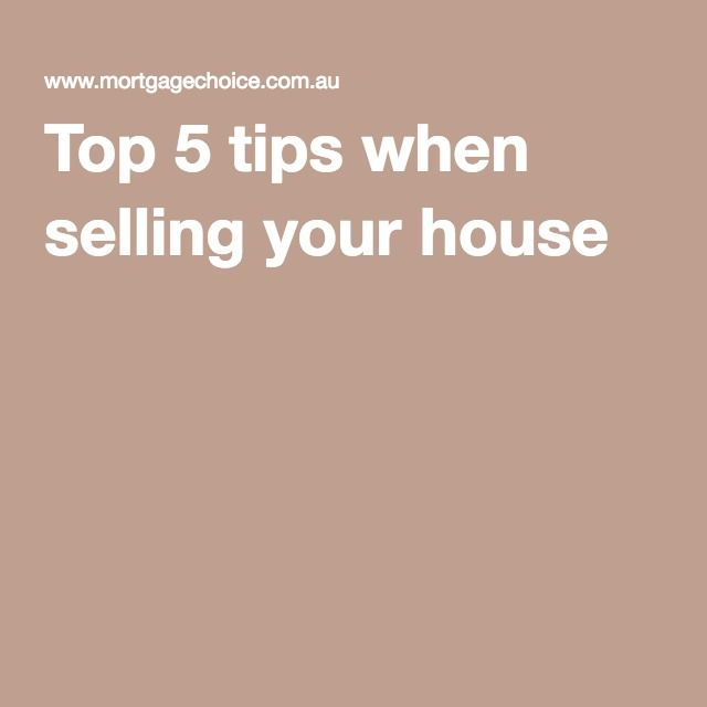Top 5 tips when selling your house