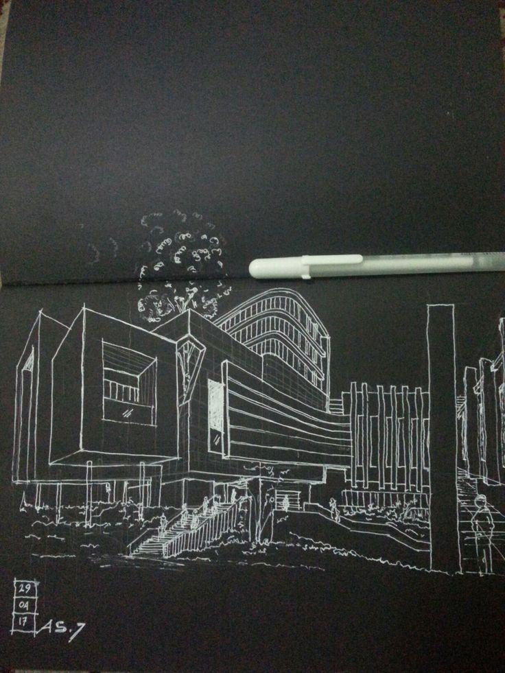 White in black Fast sketch