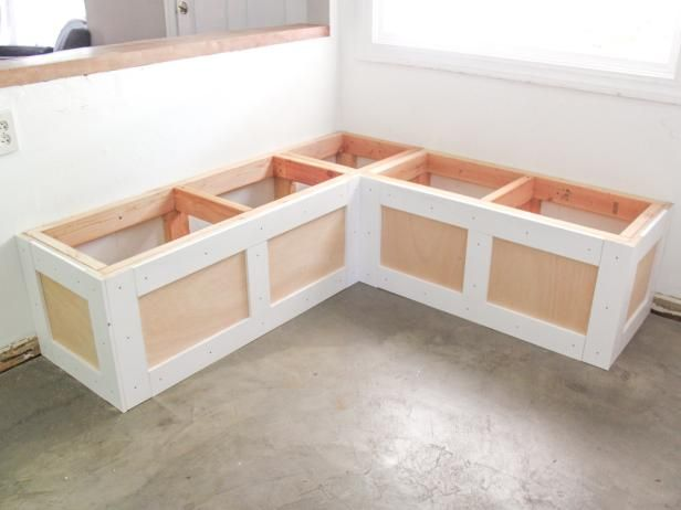 How To Build A Banquette Seat With Built In Storage Booth Seating Kitchen Diy Dining Bench