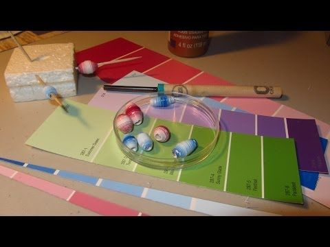 Make Paper Beads With Paint Chip Samples Paper Bead Craft - YouTube