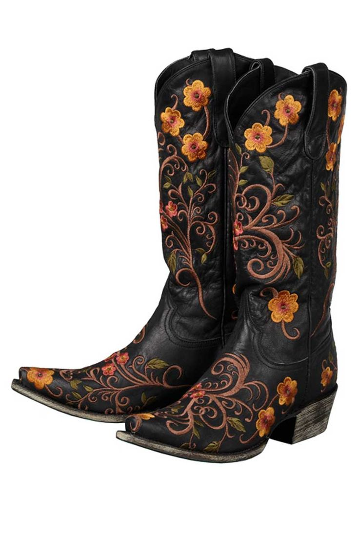 Lane Women's Black Darla Cowgirl Boots on sale @ HeadWest Outfitters