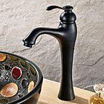 Antigo Difundido Single Handle Uma Abertura in Bronze Oleado Torneira pia do banheiro de 2016 por R$261.58