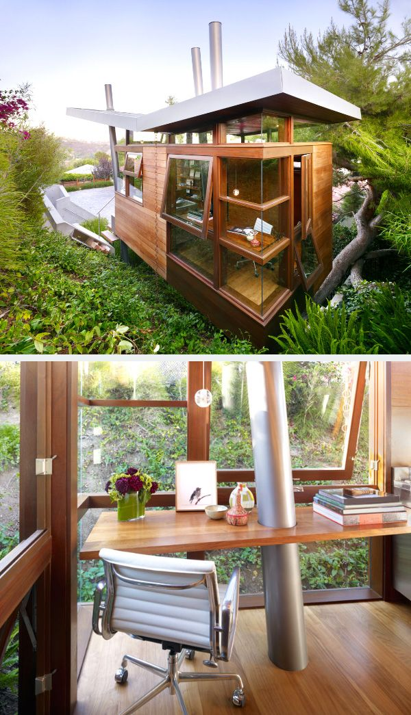 Banyan Treehouse. This luxurious tree house which is made out of wood and glass is the perfect getaway from the busy life. It overlooks downtown Los Angeles and is built on the base of a large pine tree.