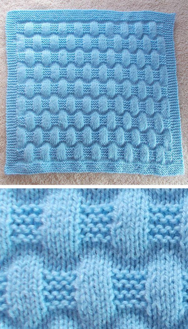 Free Knitting Pattern für Easy Jordan Baby Blanket – Diese einfache Decke ist …   – stricken