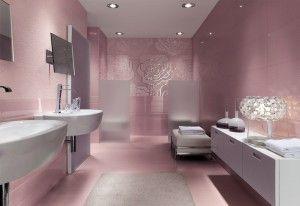 Cute Pink Mosaic Floor Tile Ideas