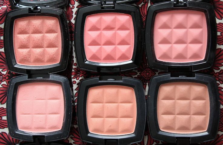 Favourite NYX blushes: Pinched, Bourgeois Pig, Natural, Peach, Angel, Mauve