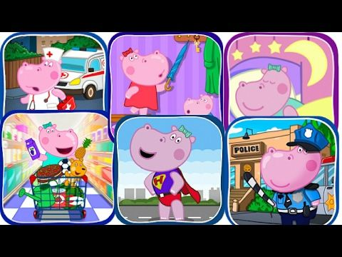 HIPPO KIDS MINI GAMES FOR TODDLERS!!!HOW TO LEARN!!!