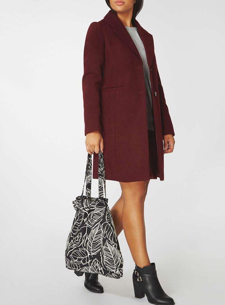 Womens Black Leaf Print Canvas Shopper Bag- Black