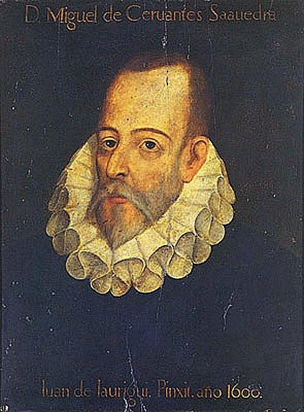 Miguel de Cervantes Saavedra, by Juan de Laurigui, 1600