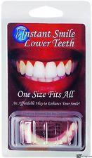 Billy Bob instantânea Folheados Inferior sorriso falso Dentes Brancos Tamanho Único