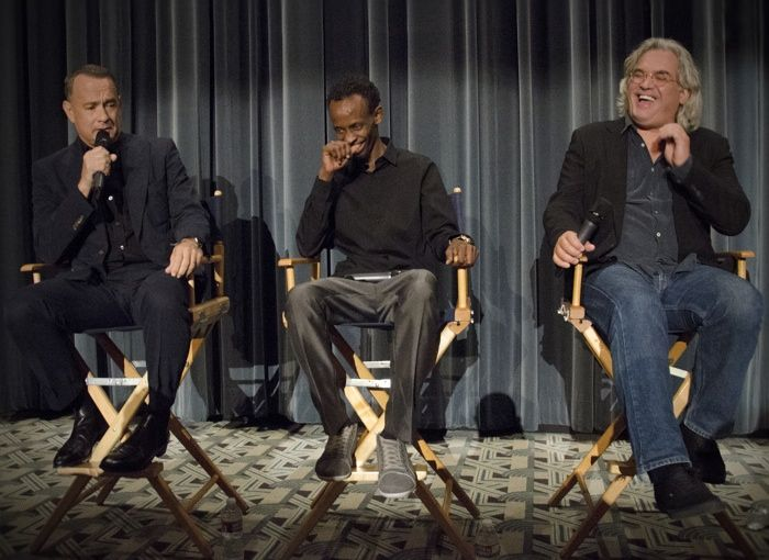 Tom Hanks, Barkhad Abdi and Paul Greengrass yucked it up at our Captain Phillips screening