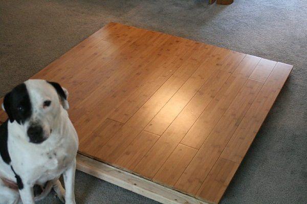 40 best studio redo images on pinterest creative good for Cheap hard flooring ideas